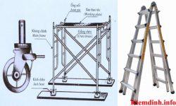 Yêu cầu an toàn khi sử dụng thang và giàn dáo
