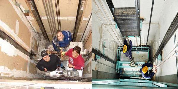 kiểm định buồng máy và buồng puli thang máy