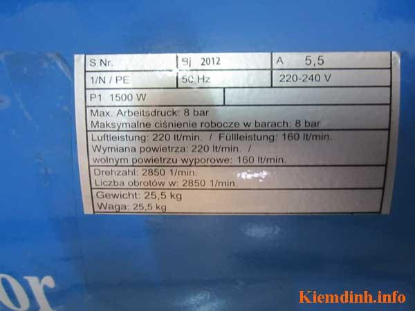 Kiểm định bình khí nén BM24 - 24 lít tại Tp.HCM - hình 6